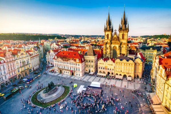 Prague-Place de Townhall