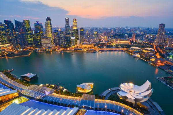 Singapour-Centre-ville- illumine